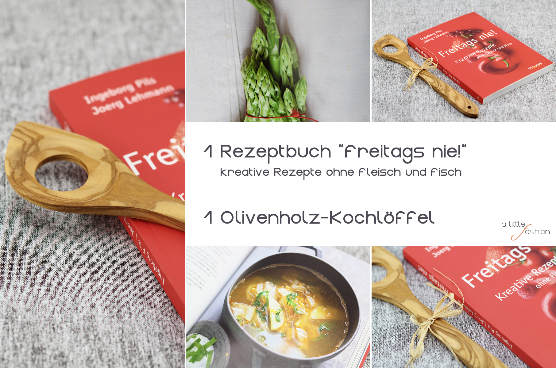 Gewinnt ein vegetarisches Kochbuch & einen Olivenholz-Kochlöffel! | https://www.filizity.com/food/alittlefashion-geburtstagssause-giveaway-5