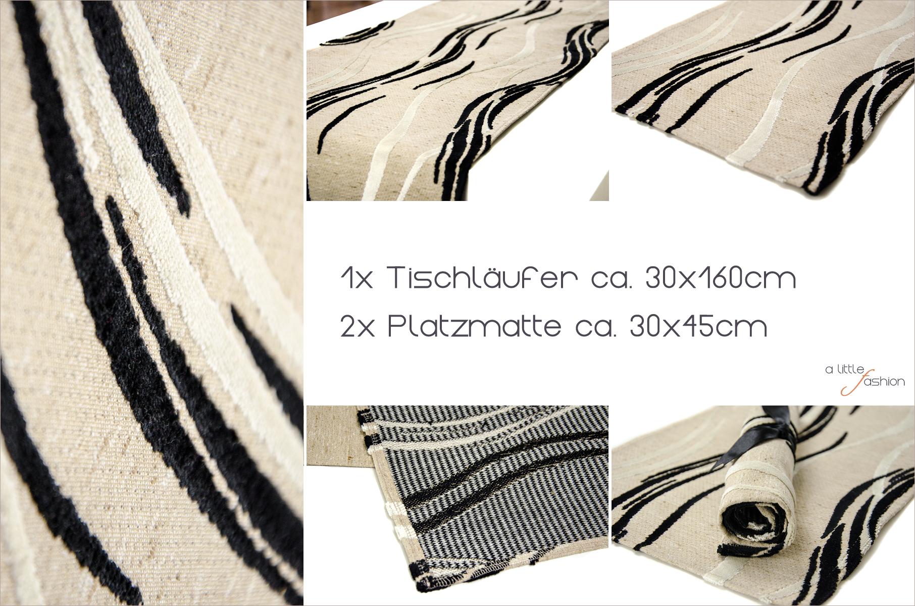 Gewinnt ein edled Tischset (1 Tischläufer + 2 Platzmatten) | A Little Fashion Geburtstagssause #2 | https://www.filizity.com/wohnen-2/alittlefashion-geburtstagssause-giveaway-2