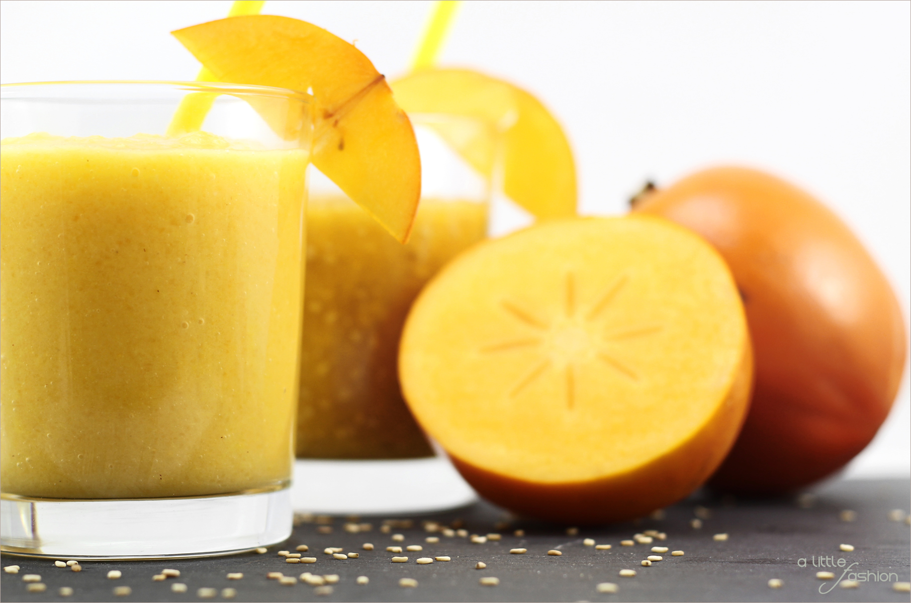 Himmlische Smoothies mit Kaki | A Little Fashion | https://www.filizity.com/rezepte/kaki-smoothies