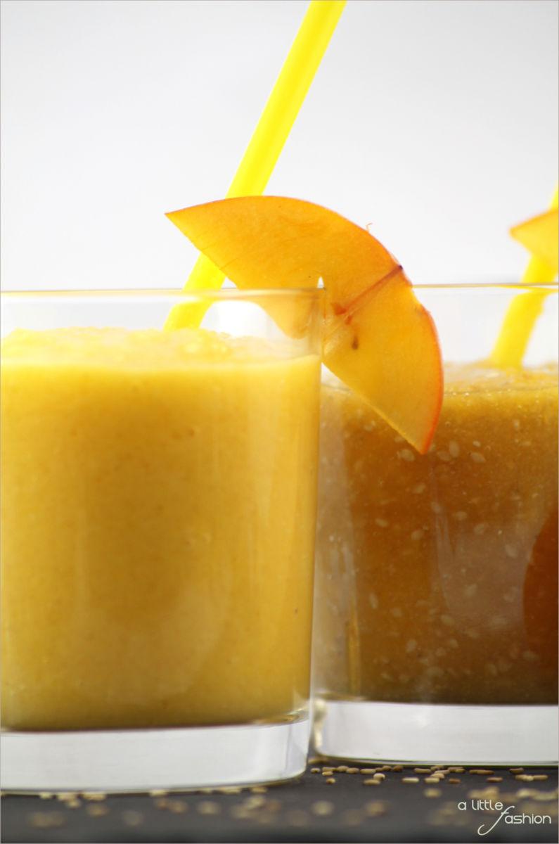 Rezept food kaki orangen kokos banane sesam smoothie5 for Cuisine kaki