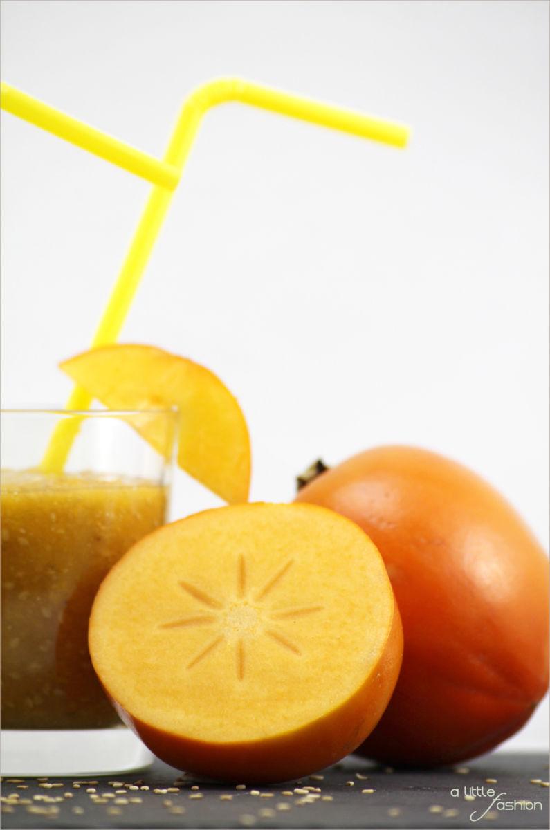 Rezept food kaki orangen kokos banane sesam smoothie6 for Cuisine kaki