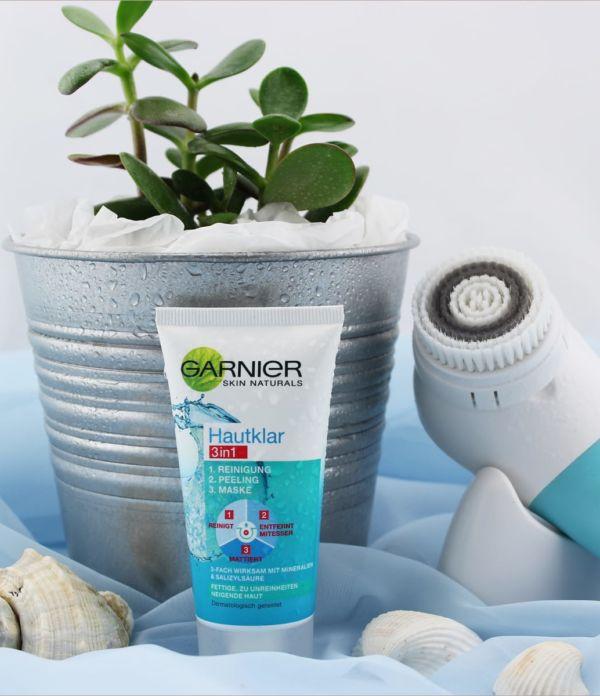 Garnier Hautklar 3in1 – Reinigung + Peeling + Maske