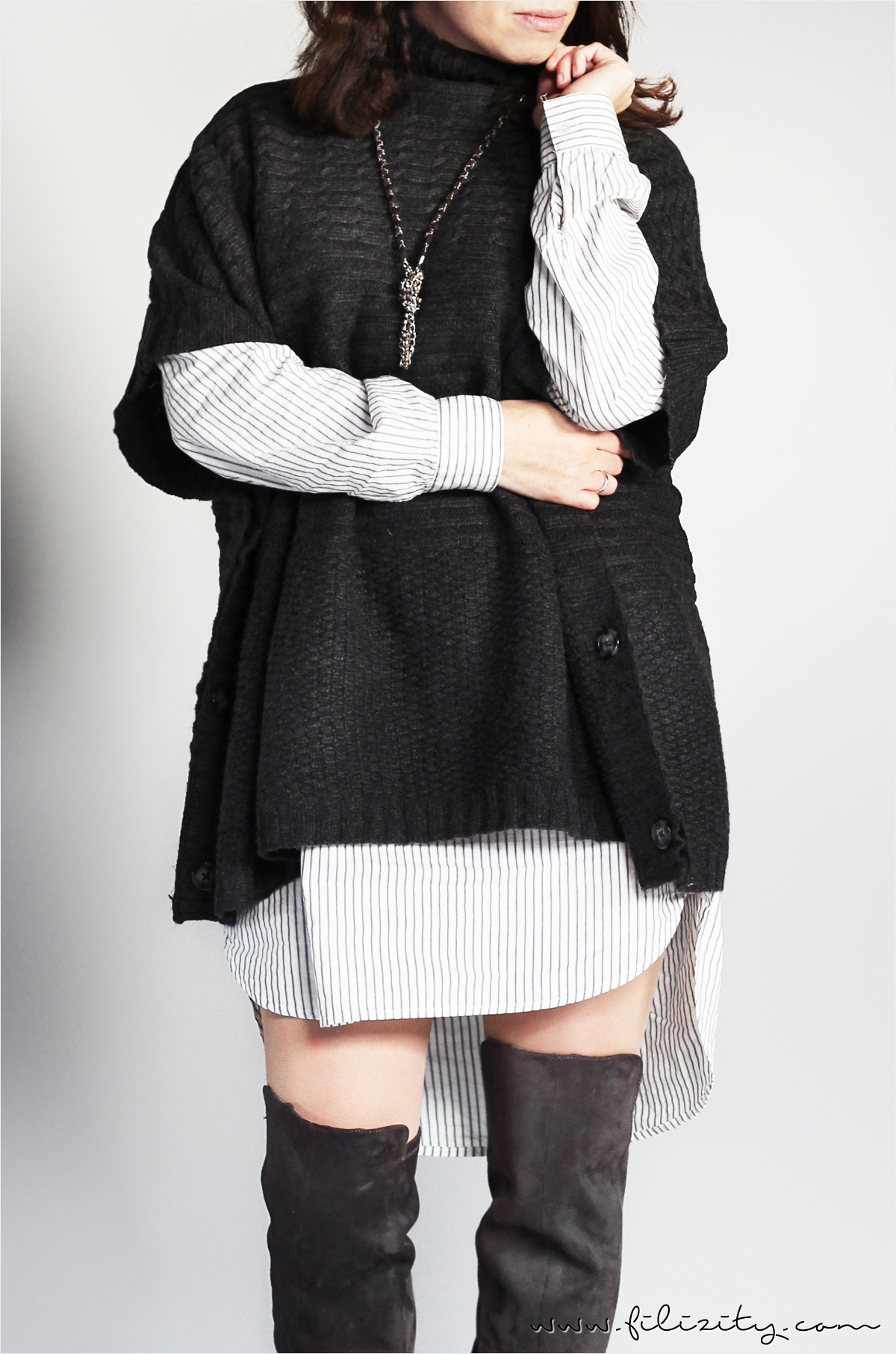Cozy Layers - Monochromer Lagenlook | A Little Fashion | https://www.filizity.com/fashion/cozy-layering-monochromer-lagenlook