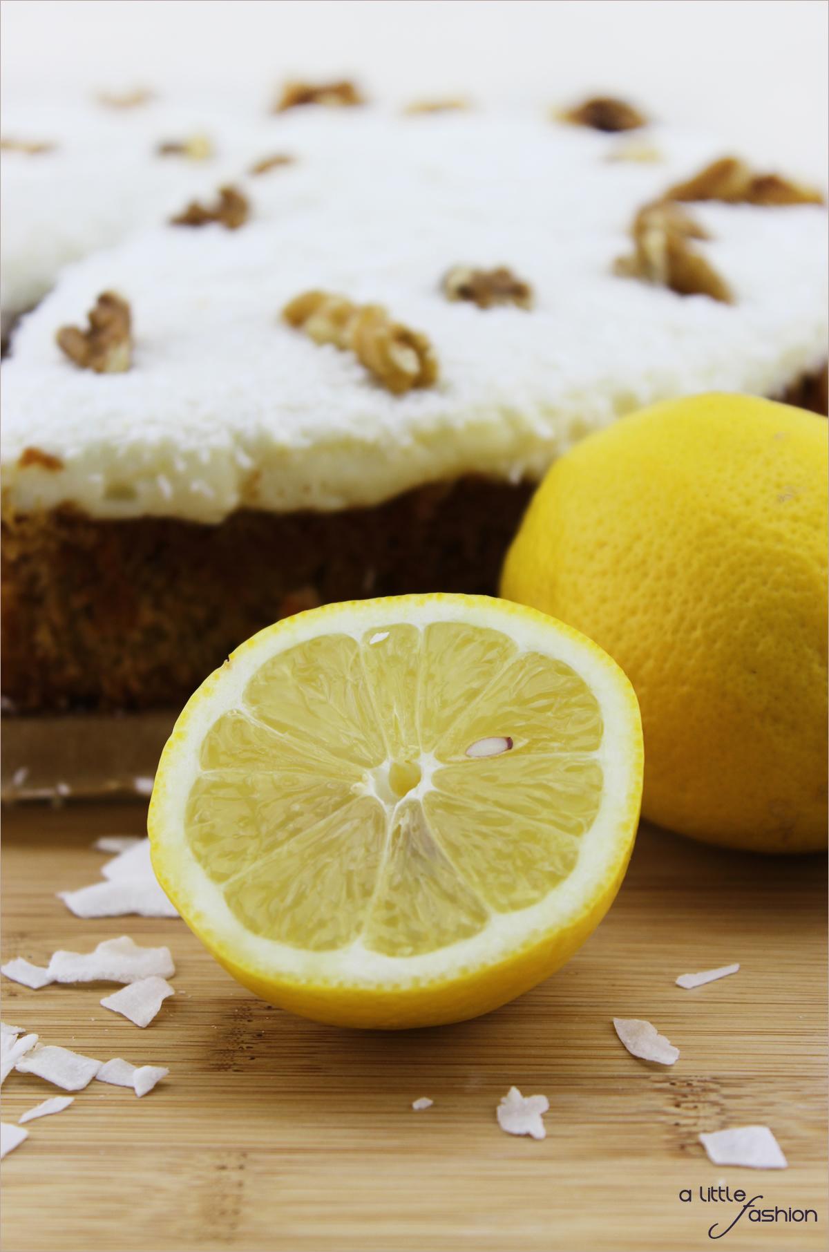 Möhren-Walnuss-Torte mit Zitronentopping | A Little Fashion |