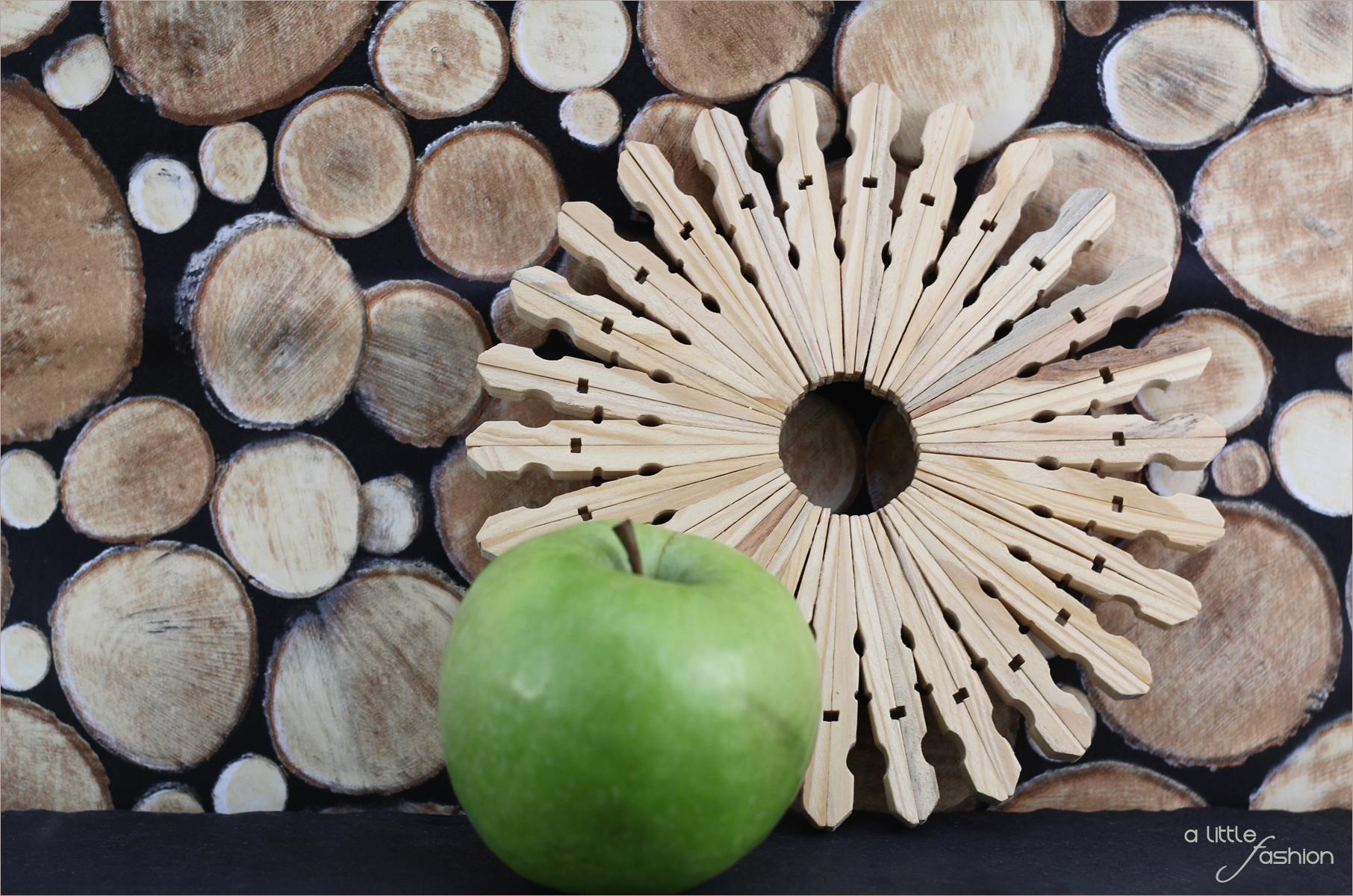 Untersetzer Holz Wäscheklammern ~ Tipp Wer möchte, kann die Holzklammern natürlich auch einfärben