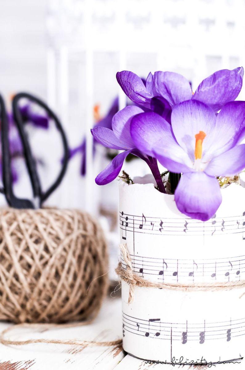 Stylische Blumentöpfe diy blumentöpfe aus dosen und papier zum selbermachen hol dir den