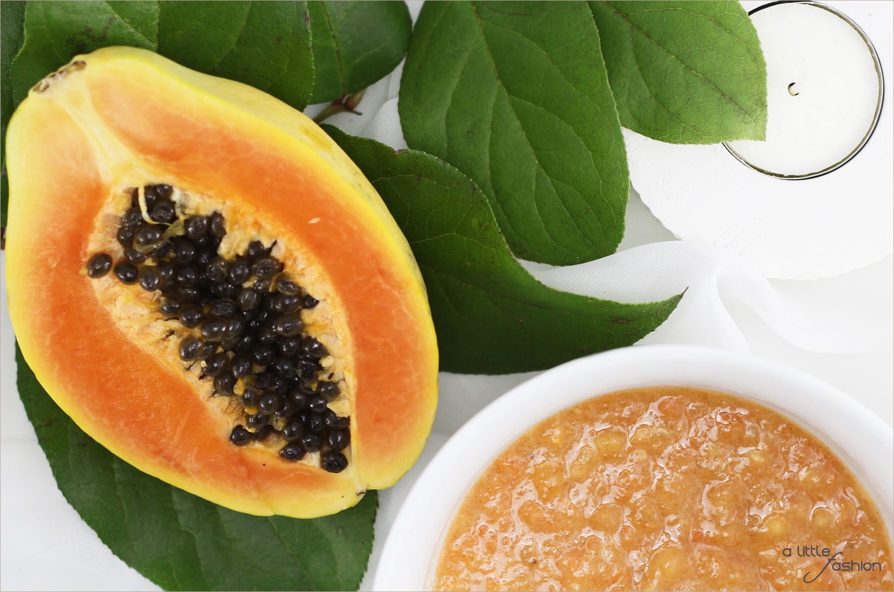 Frühlingsfrische Haut mit Papaya-Peel-Maske | A Little Fashion | https://www.filizity.com/beauty/papaya-banenen-peel-maske-gesichtspflege