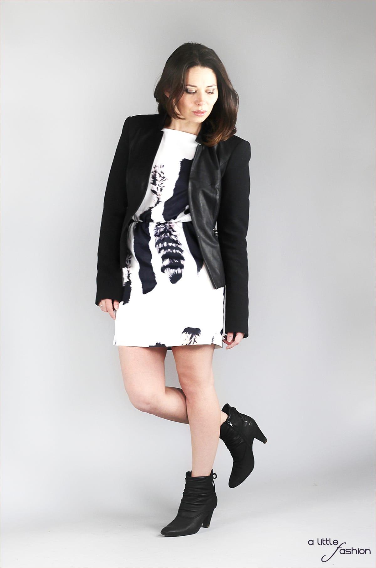 Rock Chic mit rückenfreiem Kleid und Lederjacke | A Little Fashion | https://www.filizity.com/fashion/rock-chic-mit-rueckenfreiem-kleid-und-lederjacke