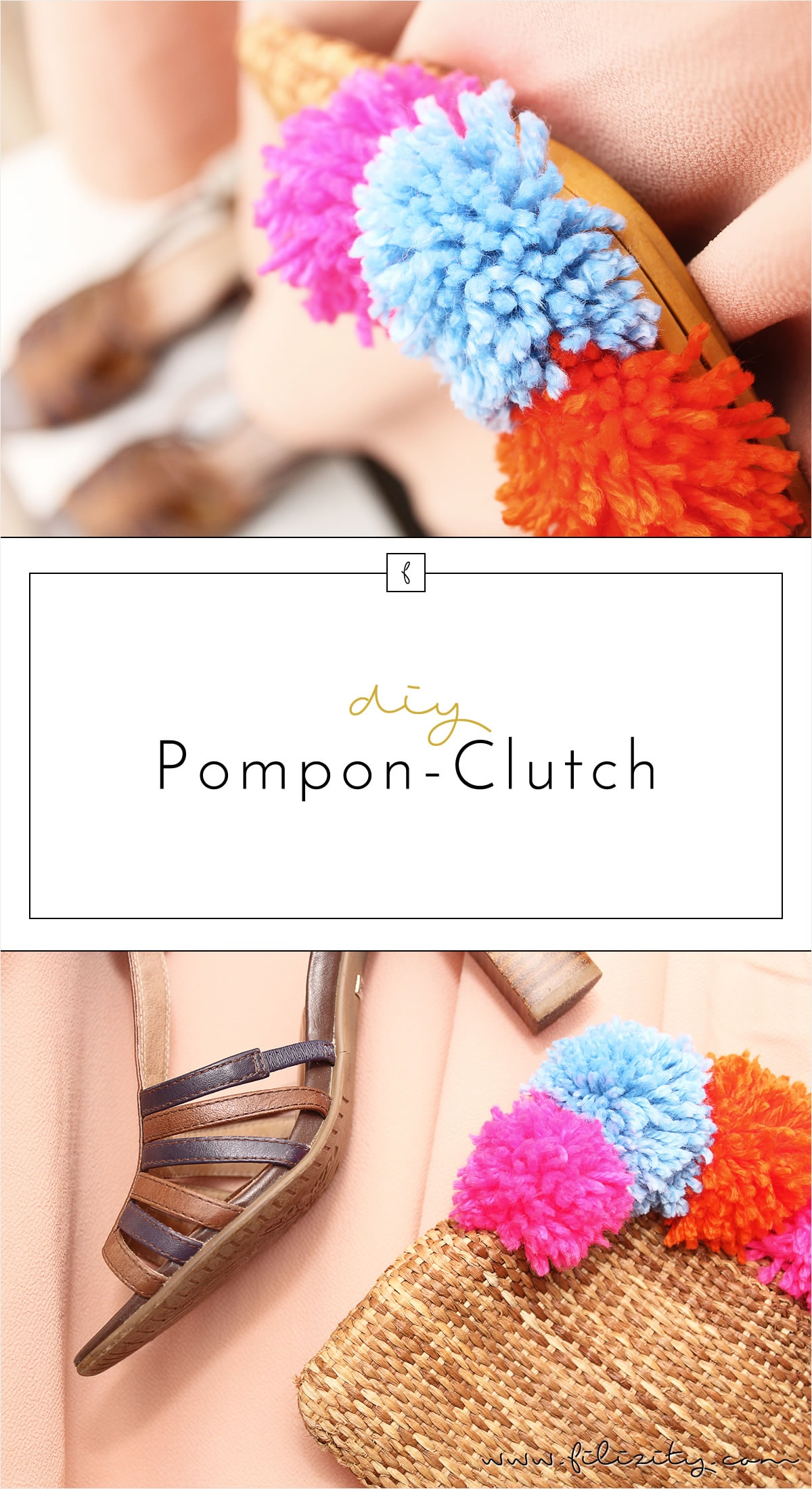It Piece Pom Pon Clutch selber machen
