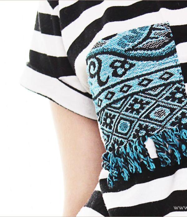 T-Shirt mit Ethno-Brusttasche aufpeppen
