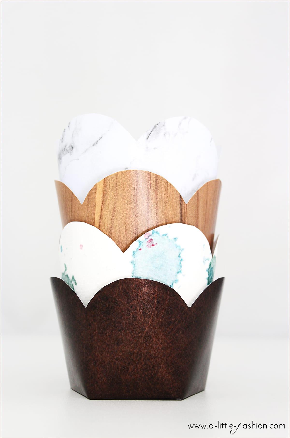 DIY-Cupcake- & Muffin-Förmchen mit Klebefolien