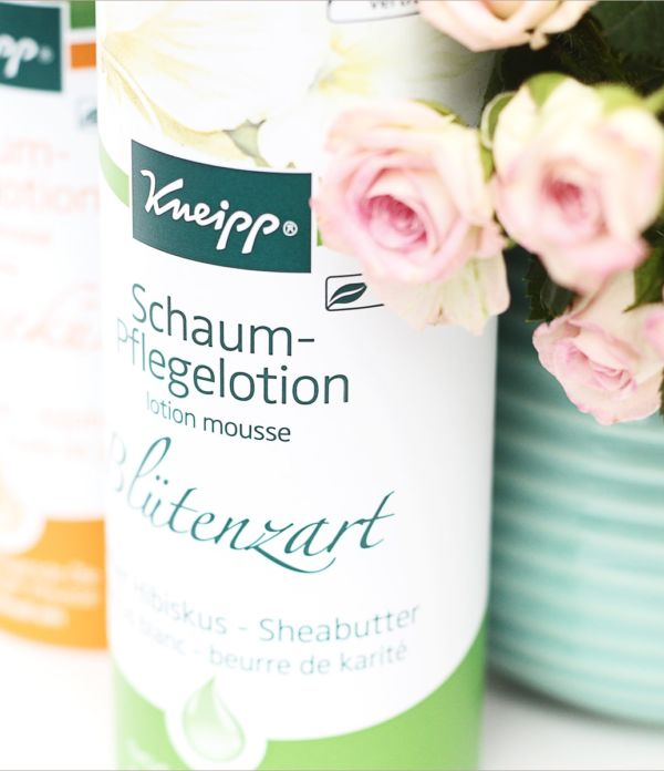 Blütenzarte Haut mit Kneipp Schaum-Pflegelotion