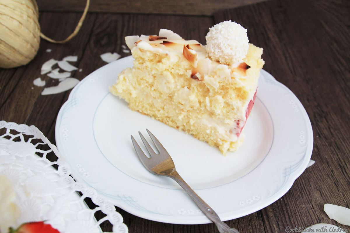 C&B with Andrea - Erdbeer-Kokos-Torte Rezept - A Little Fashion - Sommer4