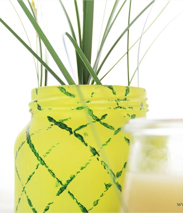 Sommer-Party: DIY Ananas-Vase