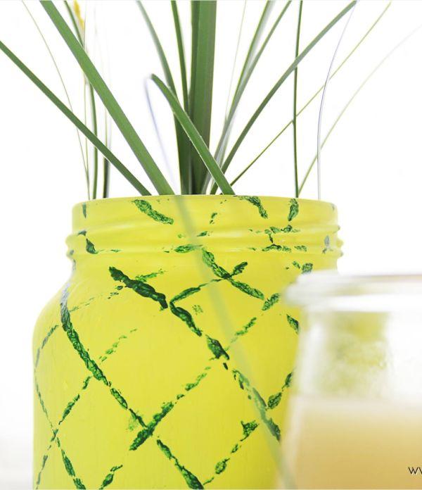 Sommer-Party: DIY Ananas-Vase