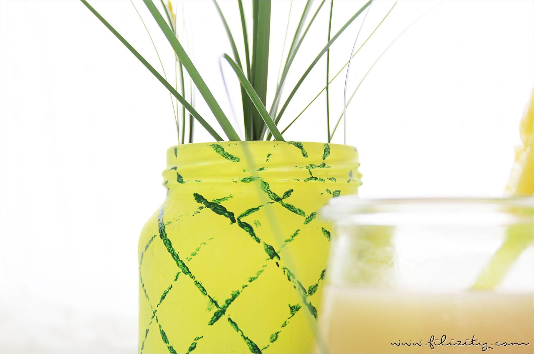 Sommer party diy ananas vase for Deko sommer 2016