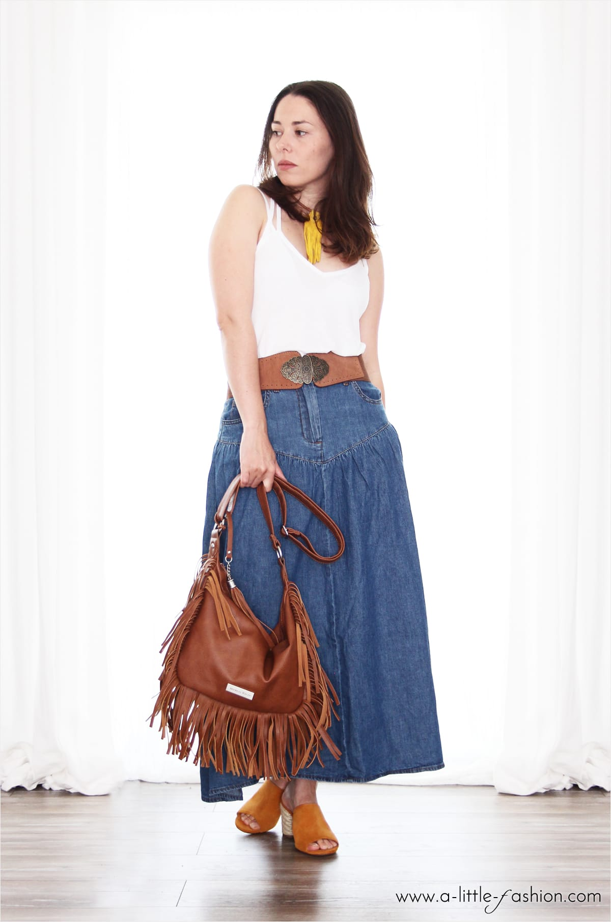 Hippie Denim – Outfit mit Maxi-Jeansrock | A Little Fashion