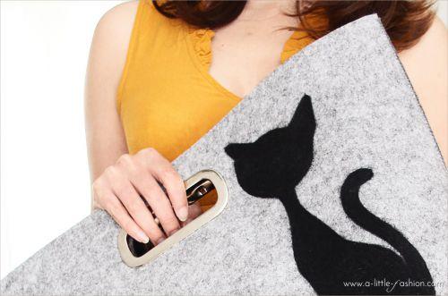 Black Cat  – Sommeroutfit mit Filztasche