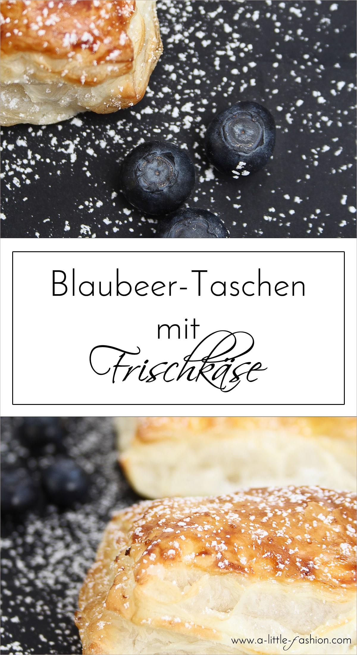 Rezept mit Blaubeeren, Frischkäse und ZitroneTeigtaschen