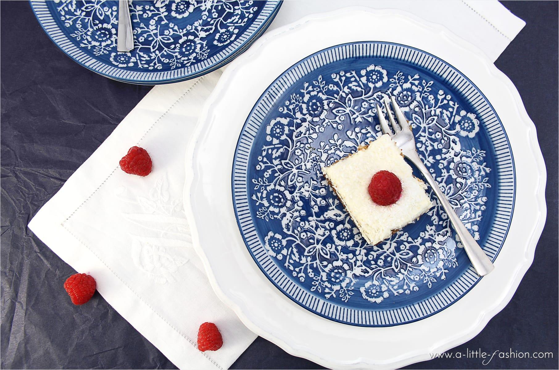 Cremig-frisches no bake Sommer-Dessert: Butterkeks-Quark-Schnitten