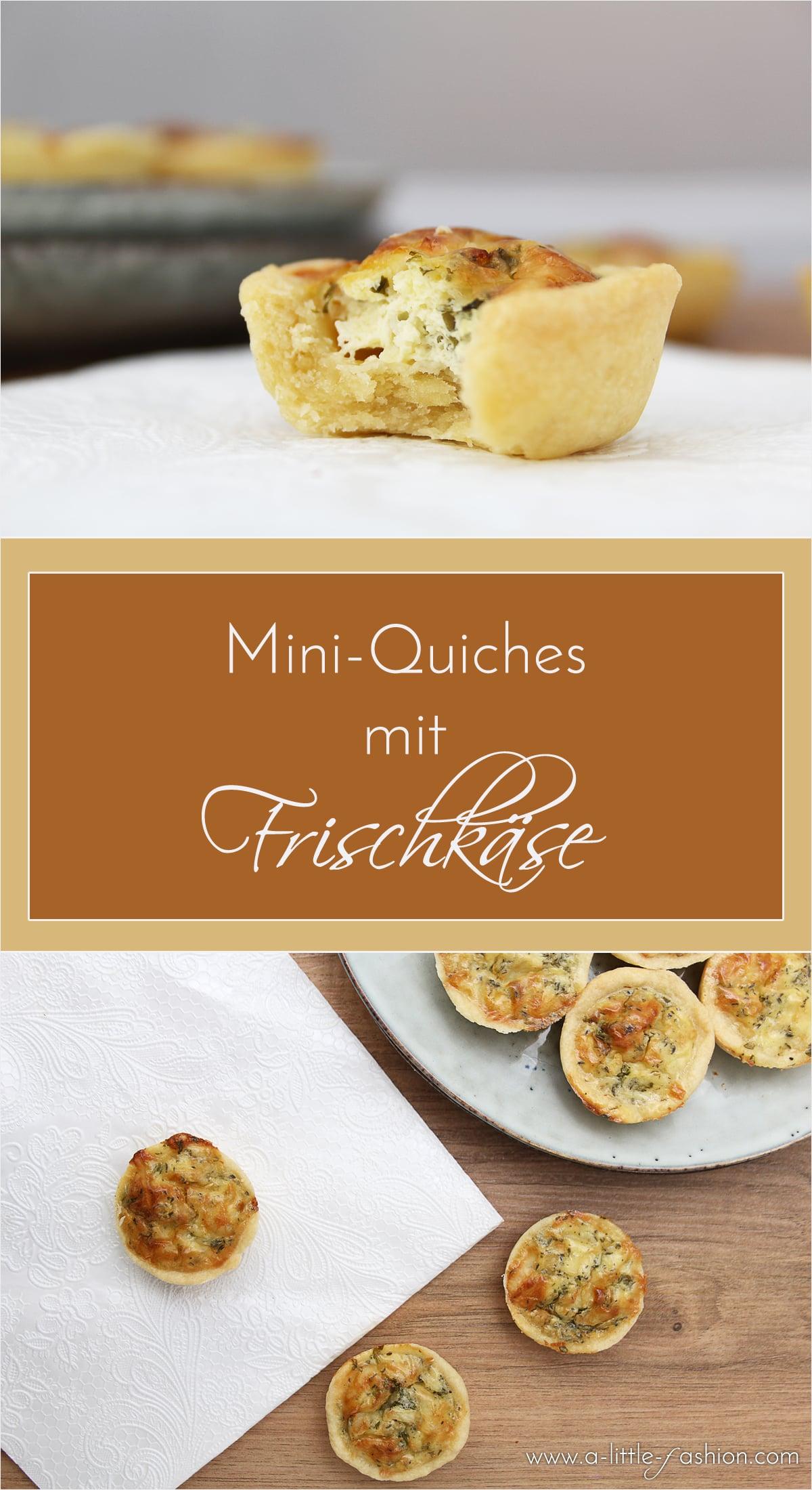 Mini-Quiches mit Kräuter-Frischkäse | A Little Fashion