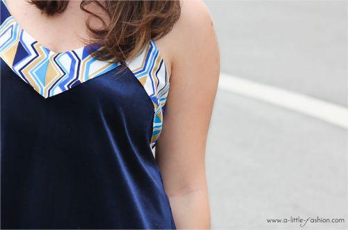 Selbstgenähtes Samt-Kleid
