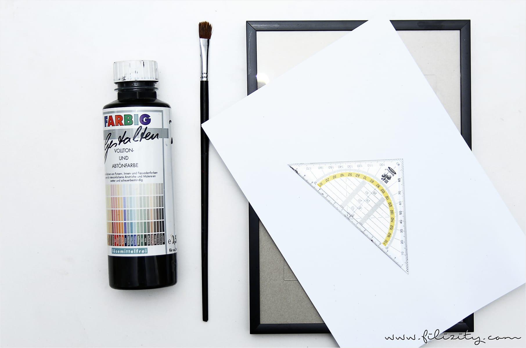 DIY-Deko: Wandbild mit Birken ganz schnell selber malen