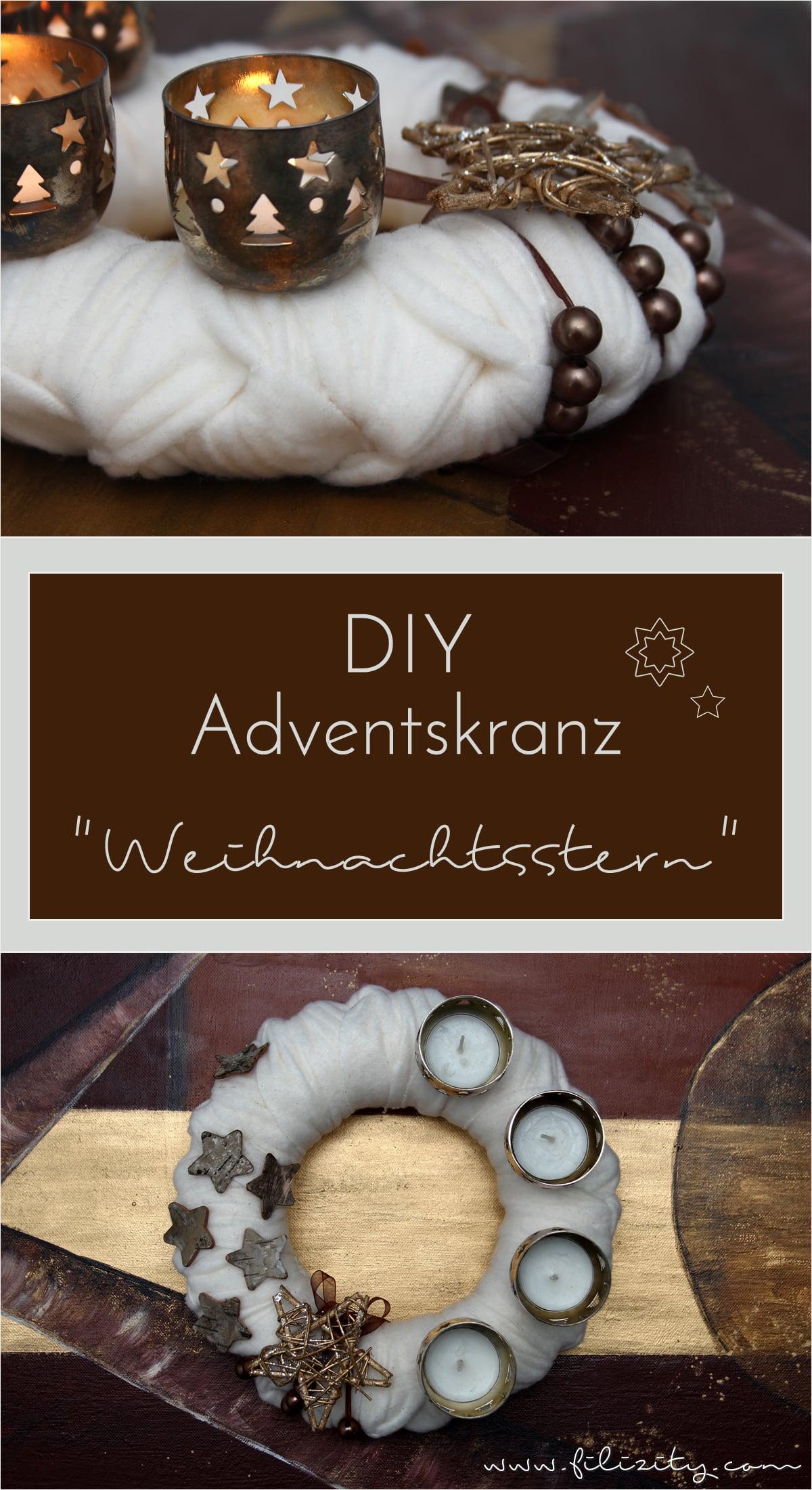 """DIY: Adventskranz """"Weihnachtsstern"""" selber machen"""