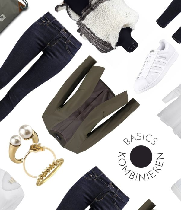 Basics kombinieren: 4 Outfits aus 3 Basics