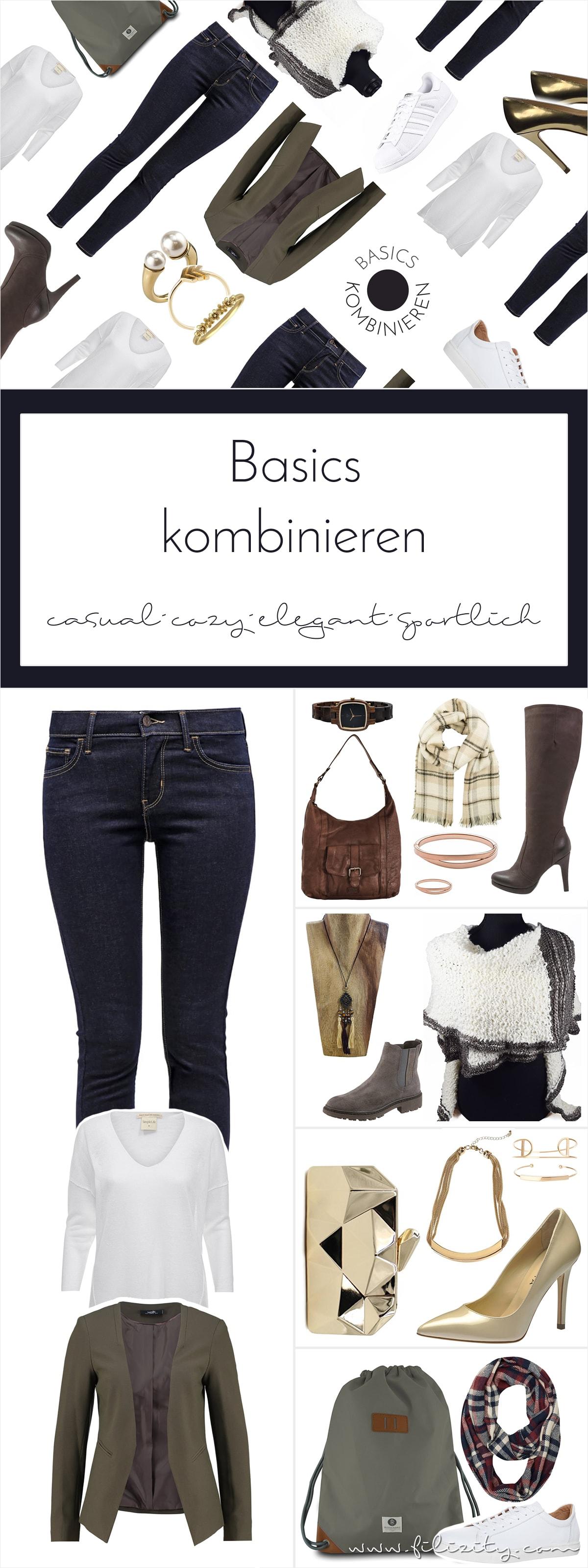 4 Looks für den Herbst mit Jeans, Pullover und Blazerjacke
