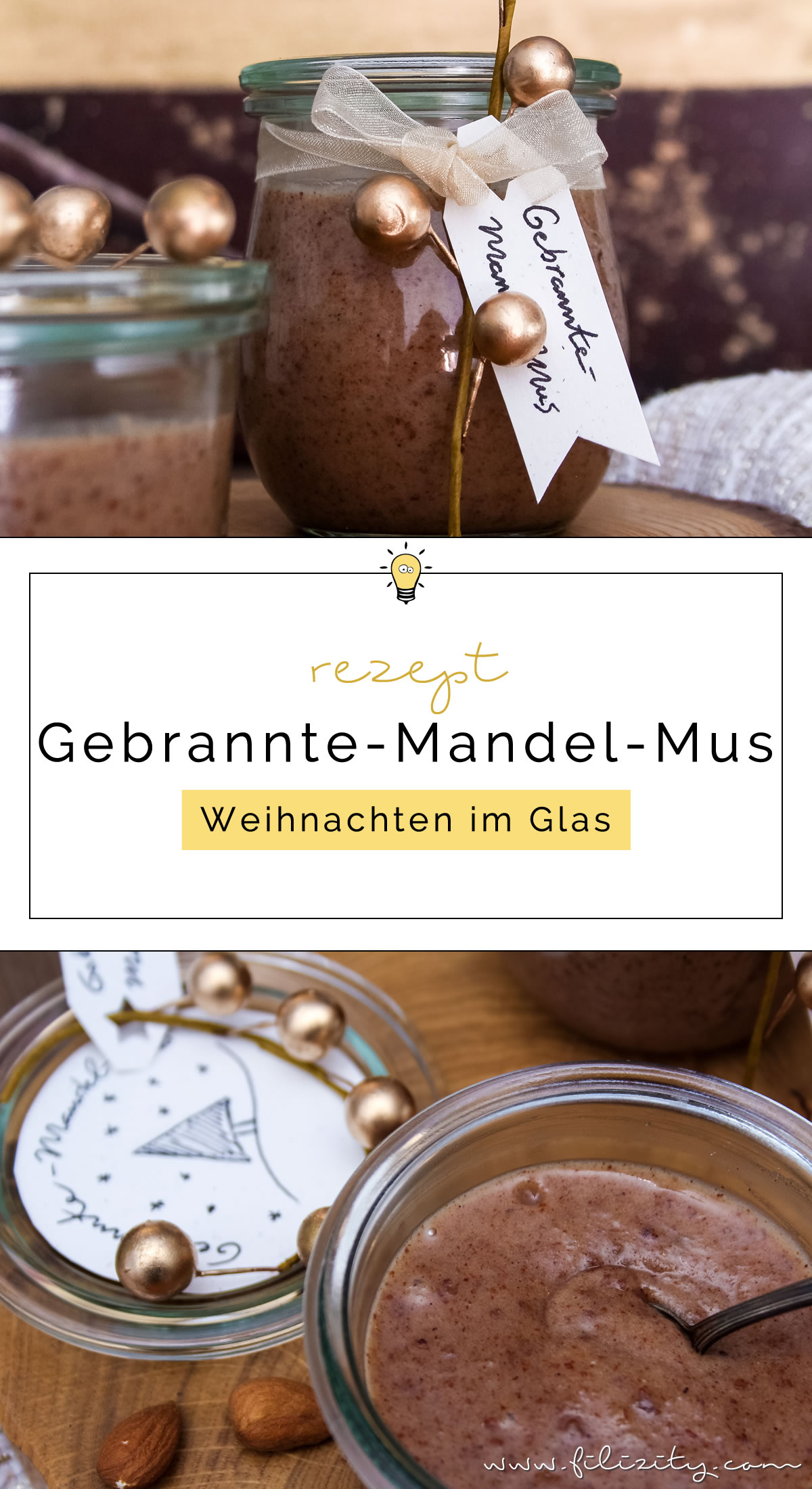 Veganes Rezept: Gebrannte-Mandel-Mus - Weihnachten im Glas | Filizity.com | Food-Blog aus Koblenz #weihnachten #advent