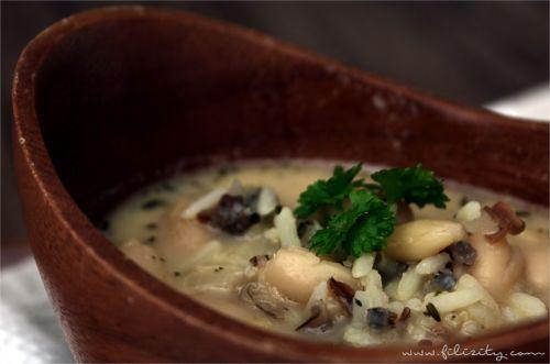 Wildreis-Bohnen-Suppe