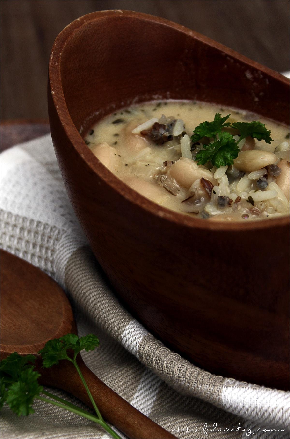 Soulfood-Rezept: Wildreis-Bohnen-Suppe