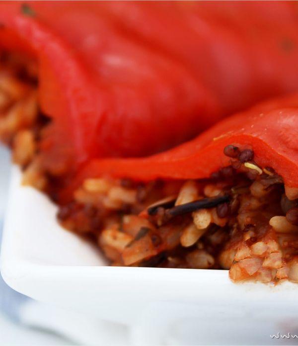 Gefüllte Paprika (vegan)