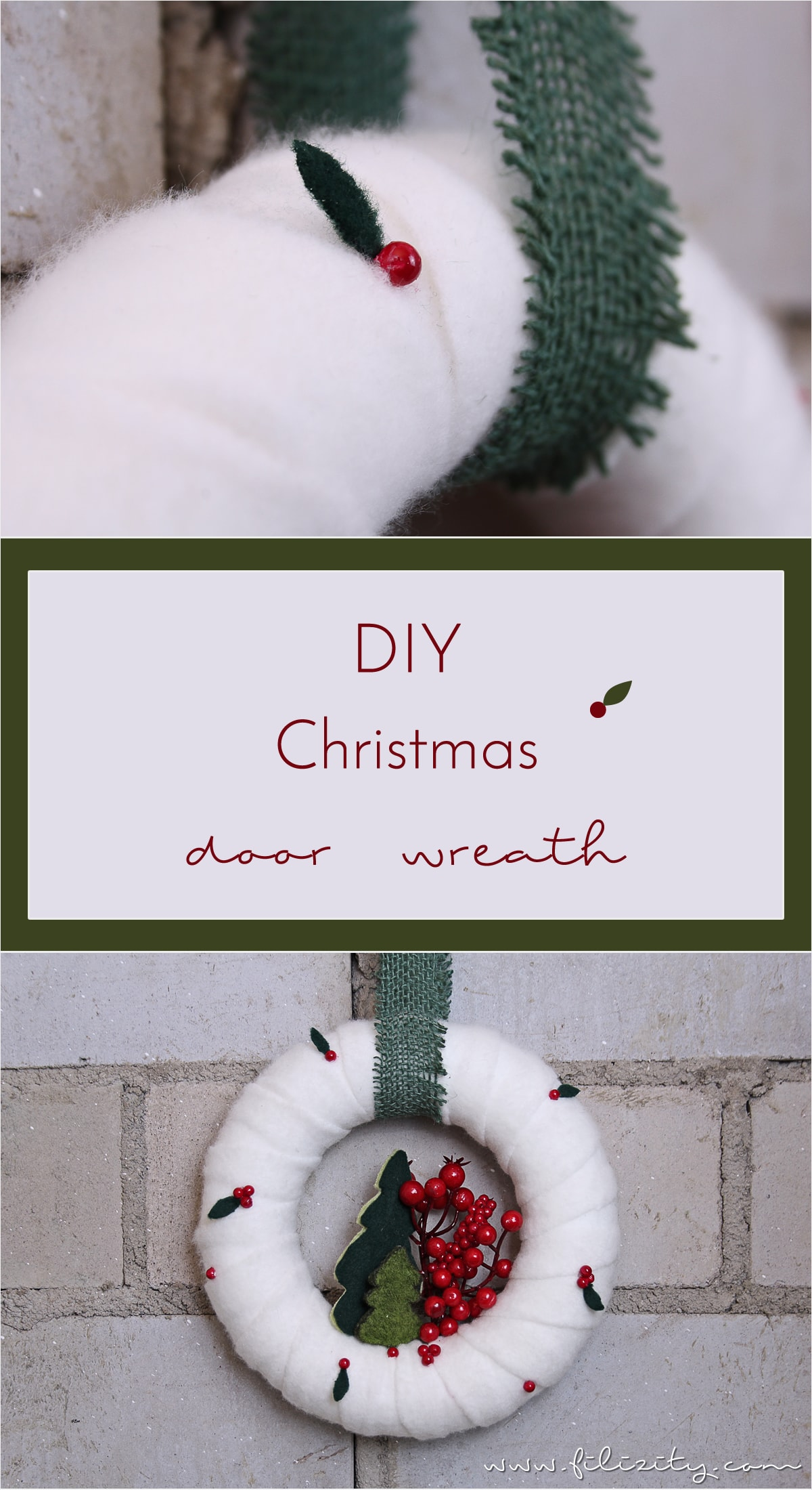 DIY Christmas wreath with berries