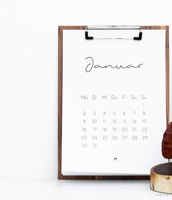 [ Free Printable ] Minimalistischer Kalender für 2017