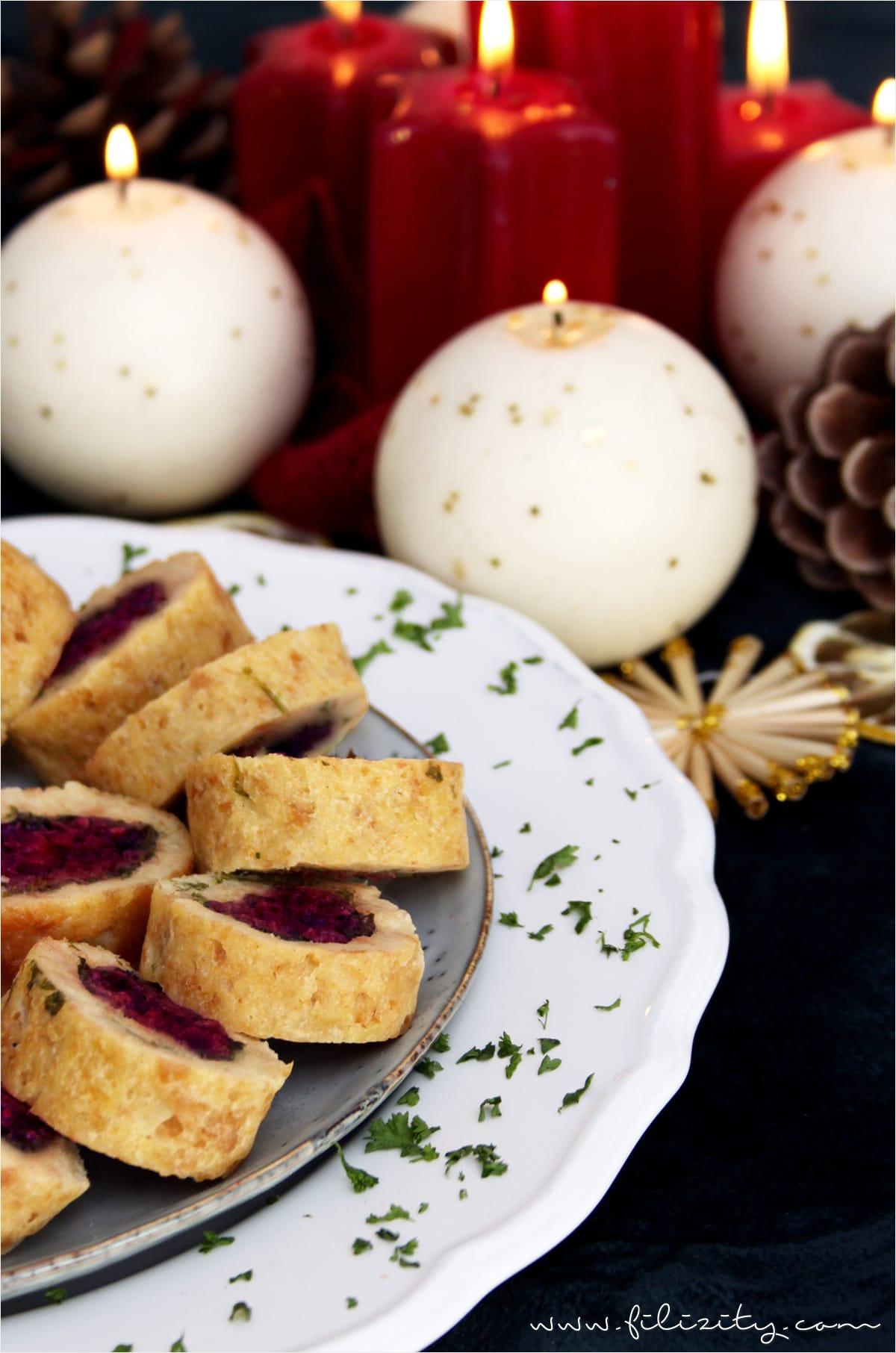 Weihnachtliche Serviettenknödel mit Rote-Bete-Zimt-Füllung - Unvergessliche Momente mit Vitamix