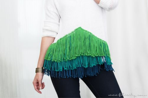 Greenery & Co.  – DIY Fransen-Pullover