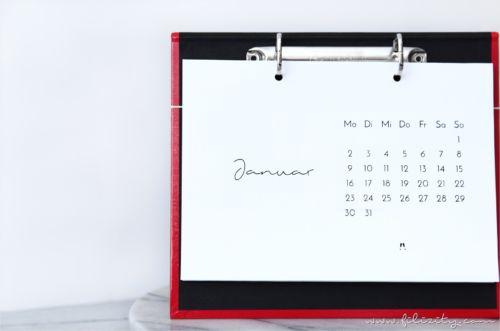 DIY Kalender-Brett & Tischkalender 2017 zum Ausdrucken