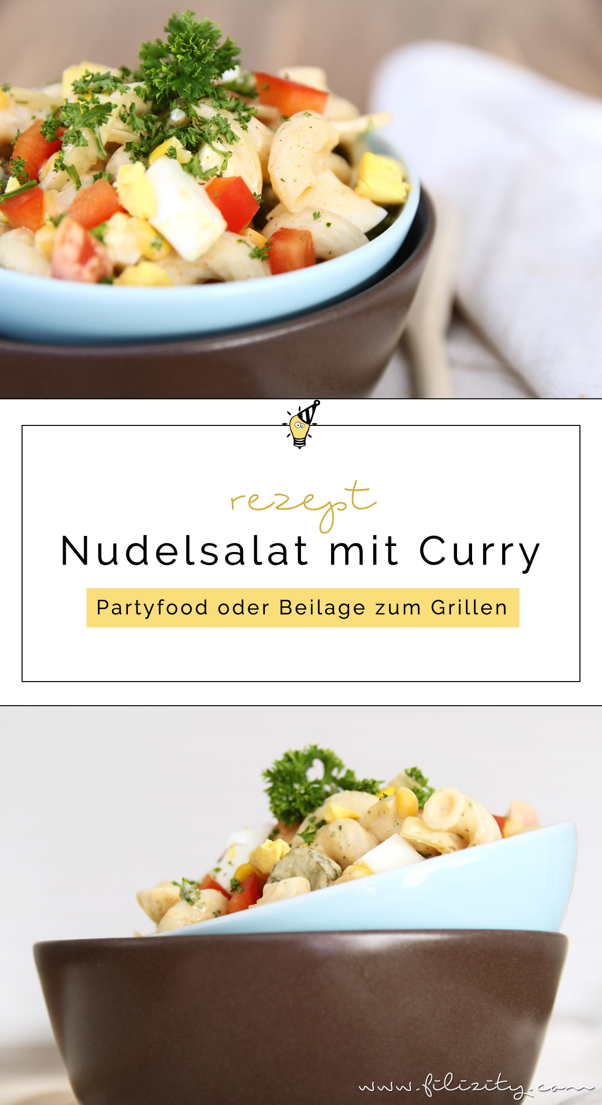 nudelsalat mit curry als partyfood oder beilage zum grillen food blog aus dem. Black Bedroom Furniture Sets. Home Design Ideas