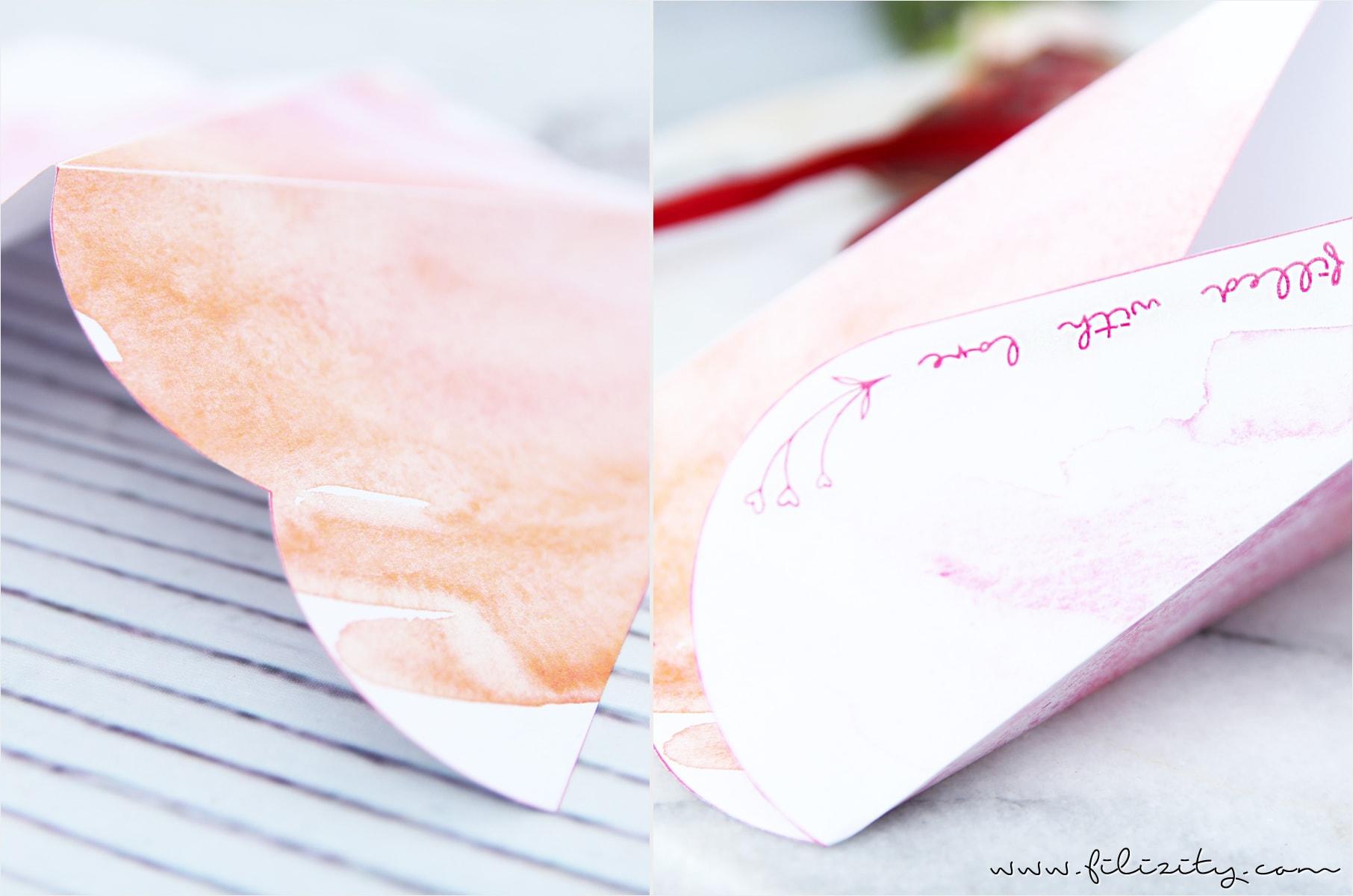 Geschenkverpackung für Valentinstag: Herztüte