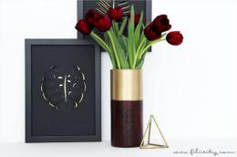 Ikea-Hack: Two Tone Glasvase selbermachen