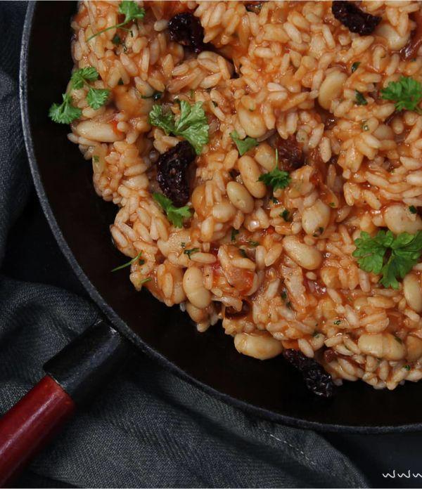 One Pot Reis mit Bohnen