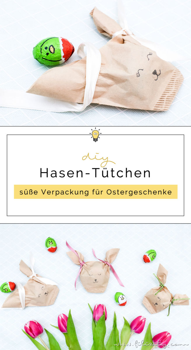 noch nie war ostergeschenke verpacken so sch n wie mit diesen s en diy hasen t tchen aus. Black Bedroom Furniture Sets. Home Design Ideas