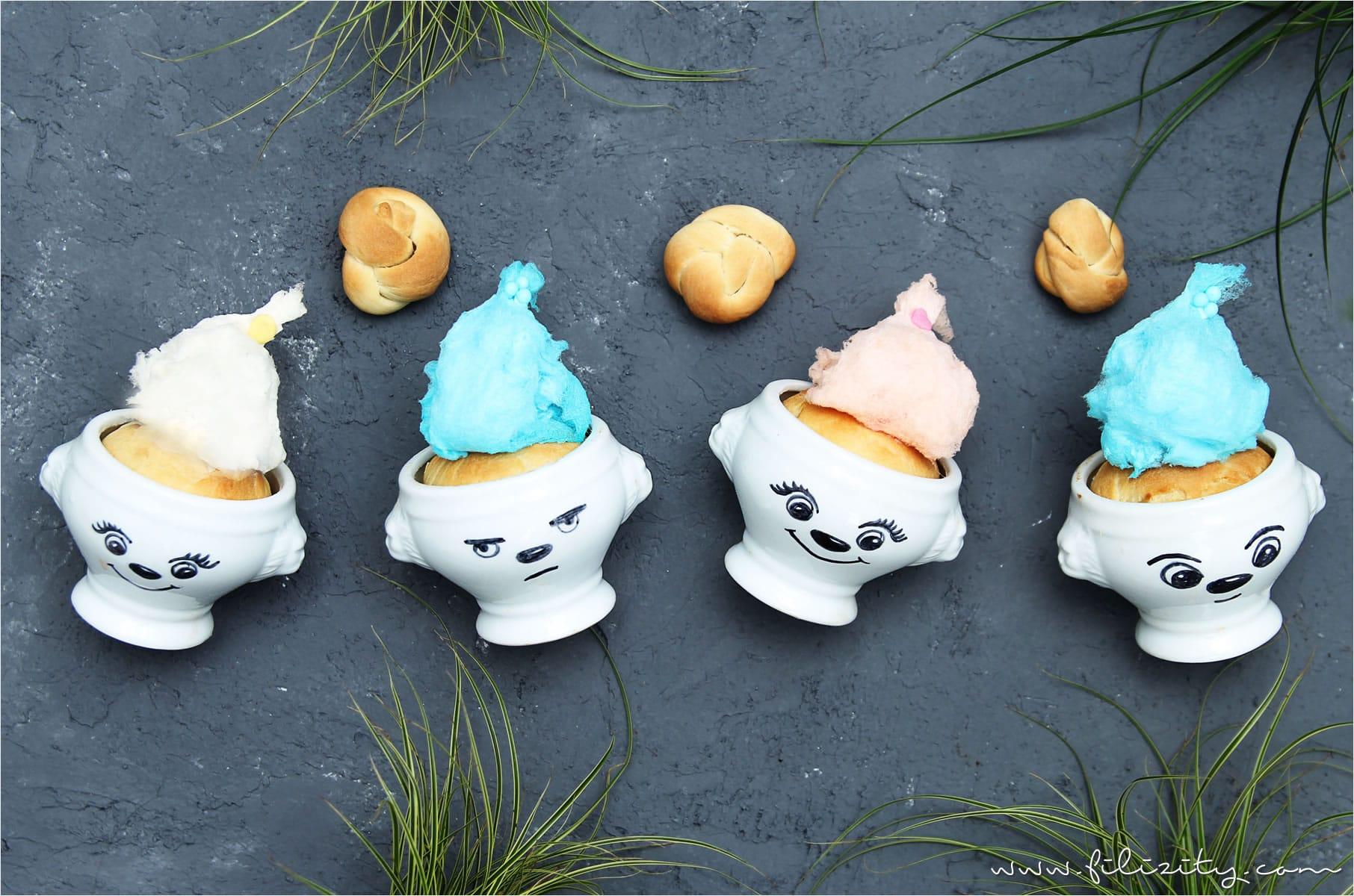 Süße Hefeteig-Trolle zu Ostern