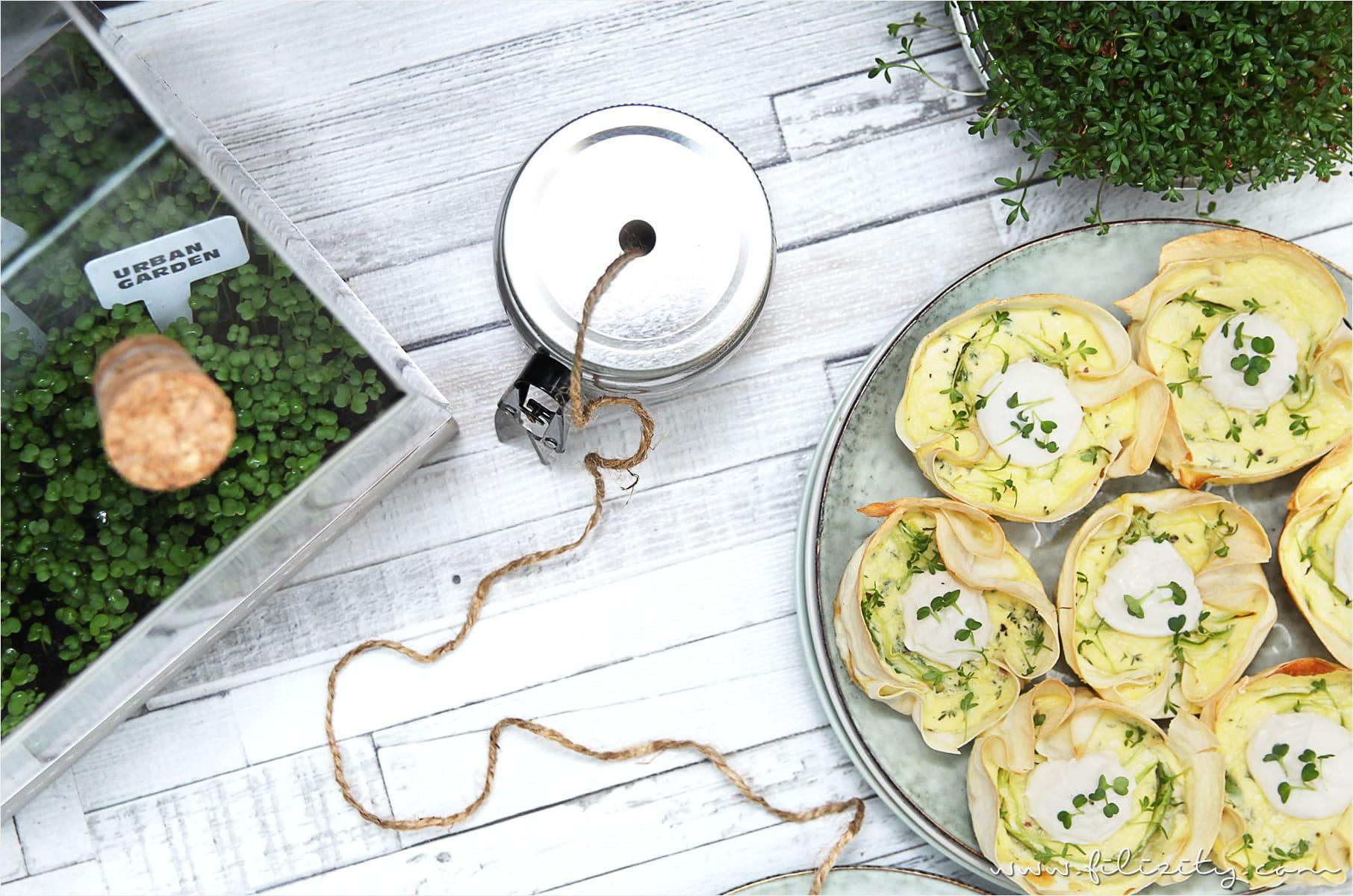 Mini-Spargel-Quiches – Urban Gardening mit Tchibo