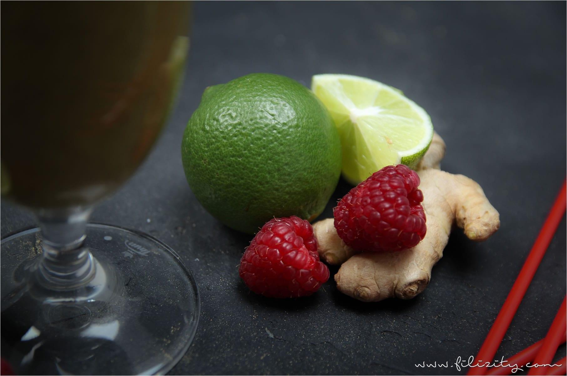 Kiwi-Ananas-Himbeer-Smoothie mit Ingwer – Booster für das Immunsystem
