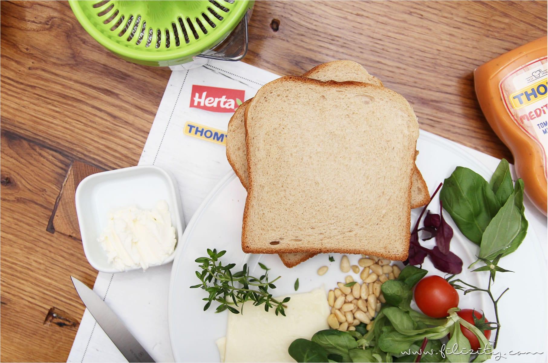 Mediterranes Sandwich mit Herta Finesse #lunchinstyle