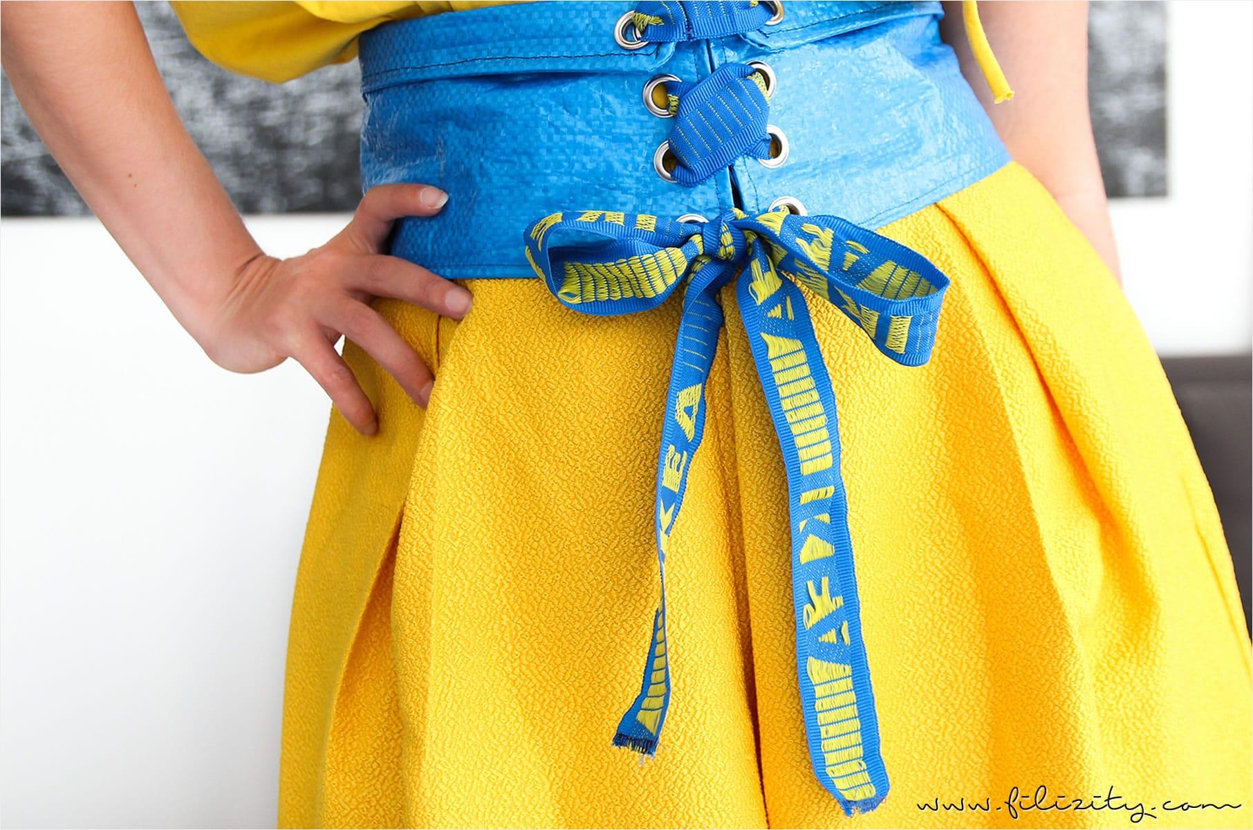 IKEA Hack: Corsagengürtel aus FRAKTA nähen