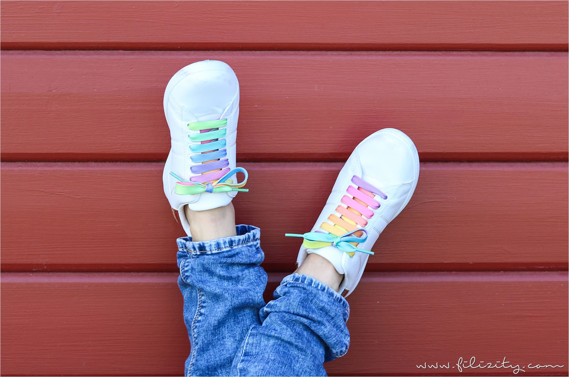 DIY Regenbogen-/Einhorn-Schuhe